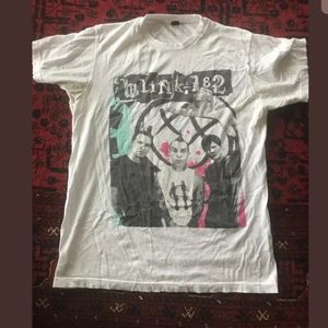 Other - Vintage Blink 182 Cotton Mexico Green Pink Red MED